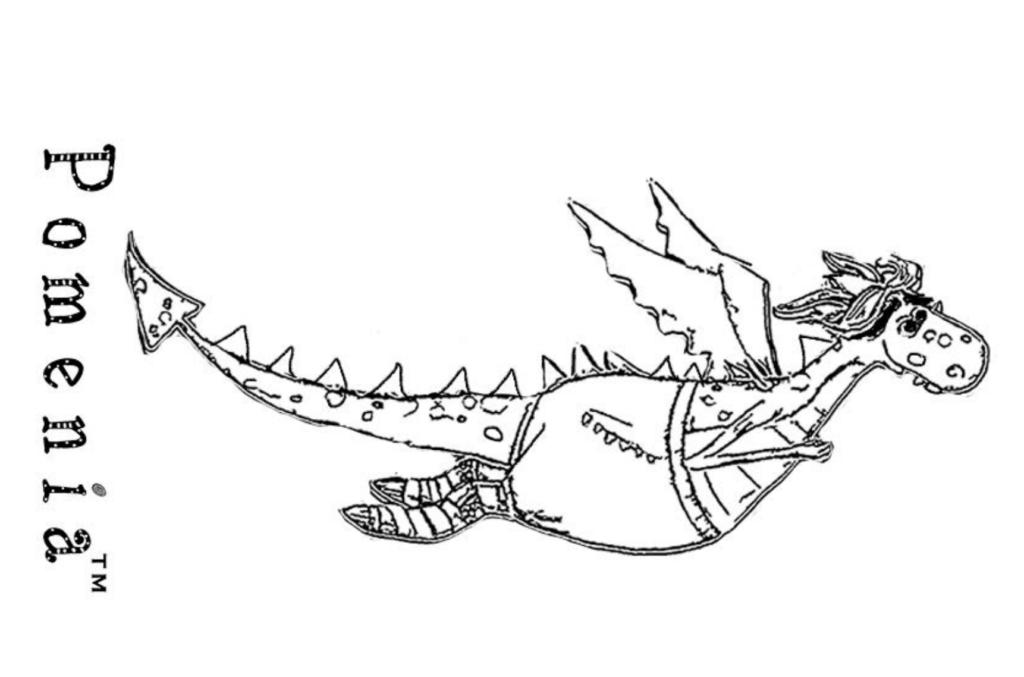 Pomenia värityskuva Lohikäärme Sisu